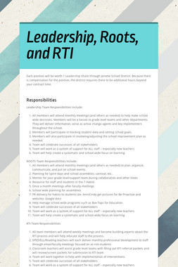 Leadership, Roots, and RTI