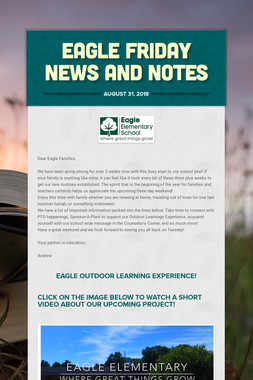 Eagle Friday News and Notes