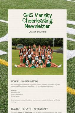 GHS Varsity Cheerleading Newsletter