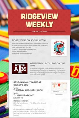 Ridgeview Weekly