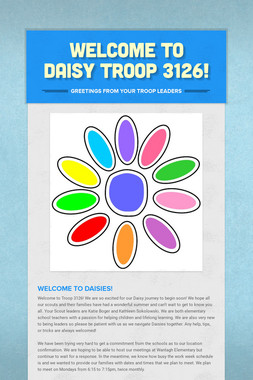 Welcome to Daisy Troop 3126!