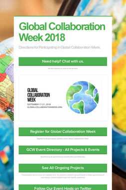 Global Collaboration Week 2018