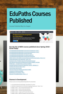 EduPaths Courses Published