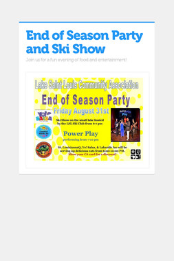 End of Season Party and Ski Show