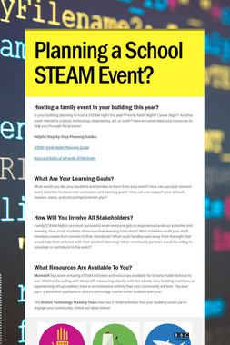 Planning a School STEAM Event?