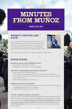 Minutes from Muñoz