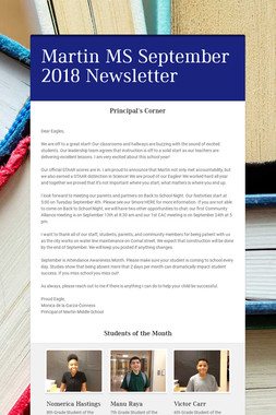 Martin MS September 2018 Newsletter