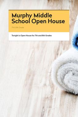 Murphy Middle School Open House
