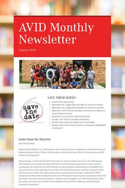 AVID Monthly Newsletter