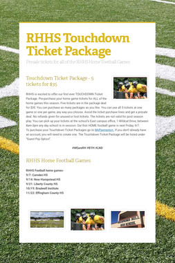 RHHS Touchdown Ticket Package
