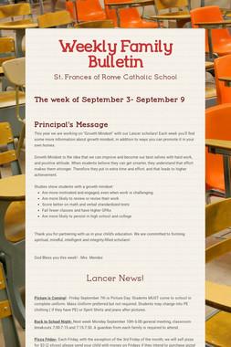Weekly Family Bulletin