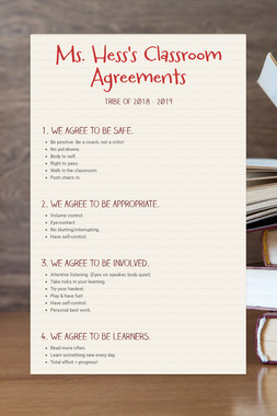 Ms. Hess's Classroom Agreements