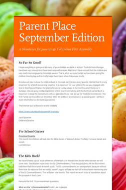 Parent Place September Edition