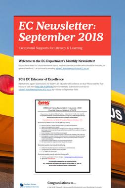 EC Newsletter: September 2018