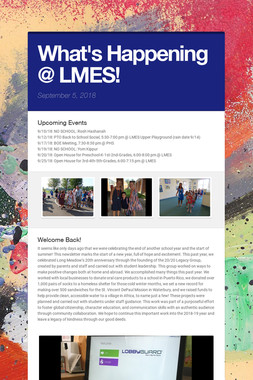 What's Happening @ LMES!