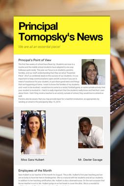 Principal Tornopsky's News