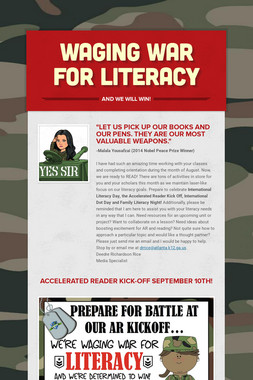 Waging War For Literacy
