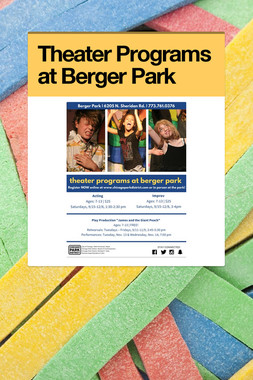 Theater Programs at Berger Park