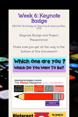 Week 6: Keynote Badge