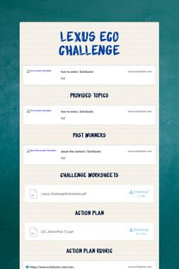 Lexus Eco Challenge