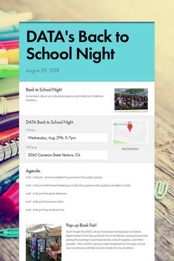 DATA's Back to School Night