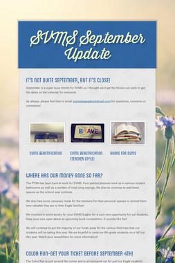 SVMS September Update
