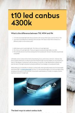 t10 led canbus 4300k