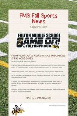 FMS Fall Sports News