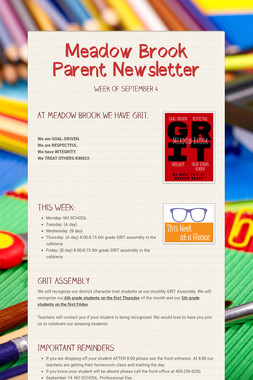 Meadow Brook Parent Newsletter