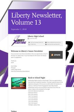Liberty Newsletter, Volume 13