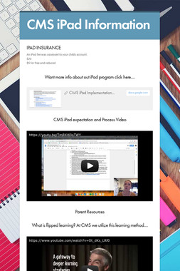 CMS iPad Information