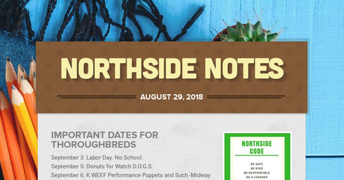 Northside Notes | Smore Newsletters for Education