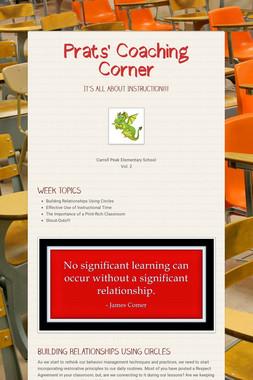 Prats' Coaching Corner