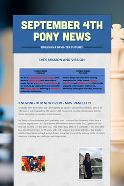 September 4th Pony News