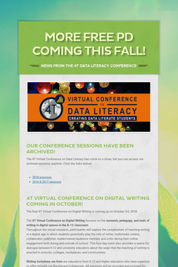 More free PD coming this fall!