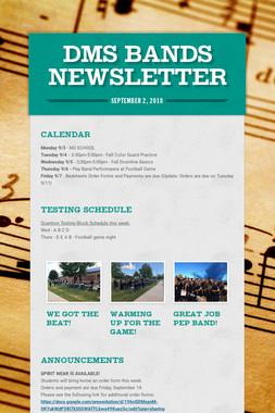 DMS Bands Newsletter