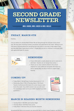 Second Grade Newsletter