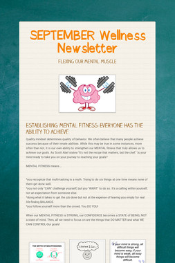SEPTEMBER Wellness Newsletter