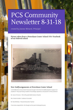 PCS Community Newsletter 8-31-18