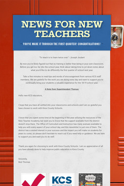 News for New Teachers