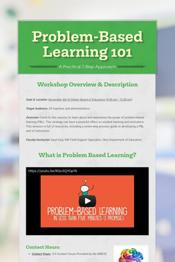 Problem-Based Learning 101