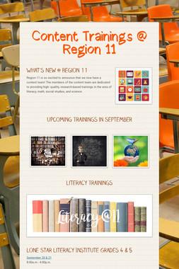 Content Trainings @ Region 11