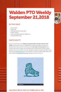 Walden PTO Weekly September 21,2018