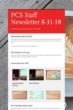 PCS Staff Newsletter 8-31-18