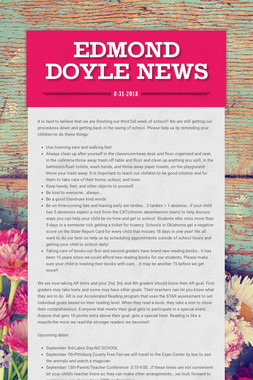 Edmond Doyle News