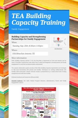 TEA Building Capacity Training