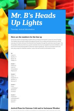 Mr. B's Heads Up Lights