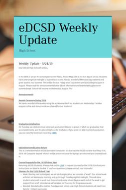 eDCSD Weekly Update