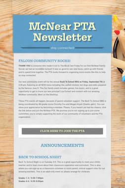 McNear PTA Newsletter