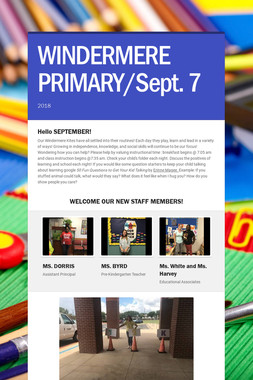 WINDERMERE PRIMARY/Sept. 7